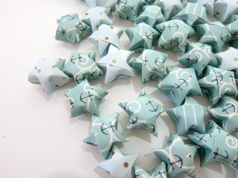 100 Korie's Anchors Away Origami Stars