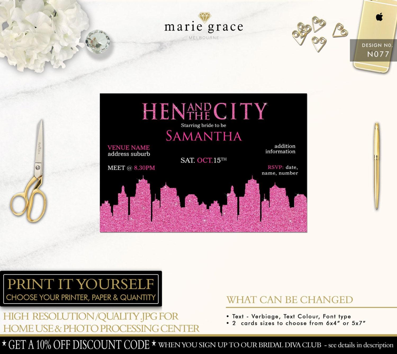 Sex in the city bachelorette party invitations