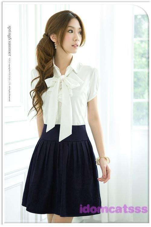 1Name : سفید آستین کوتاه مینی لباس یکپارچهسازی با سیستمعامل 198
