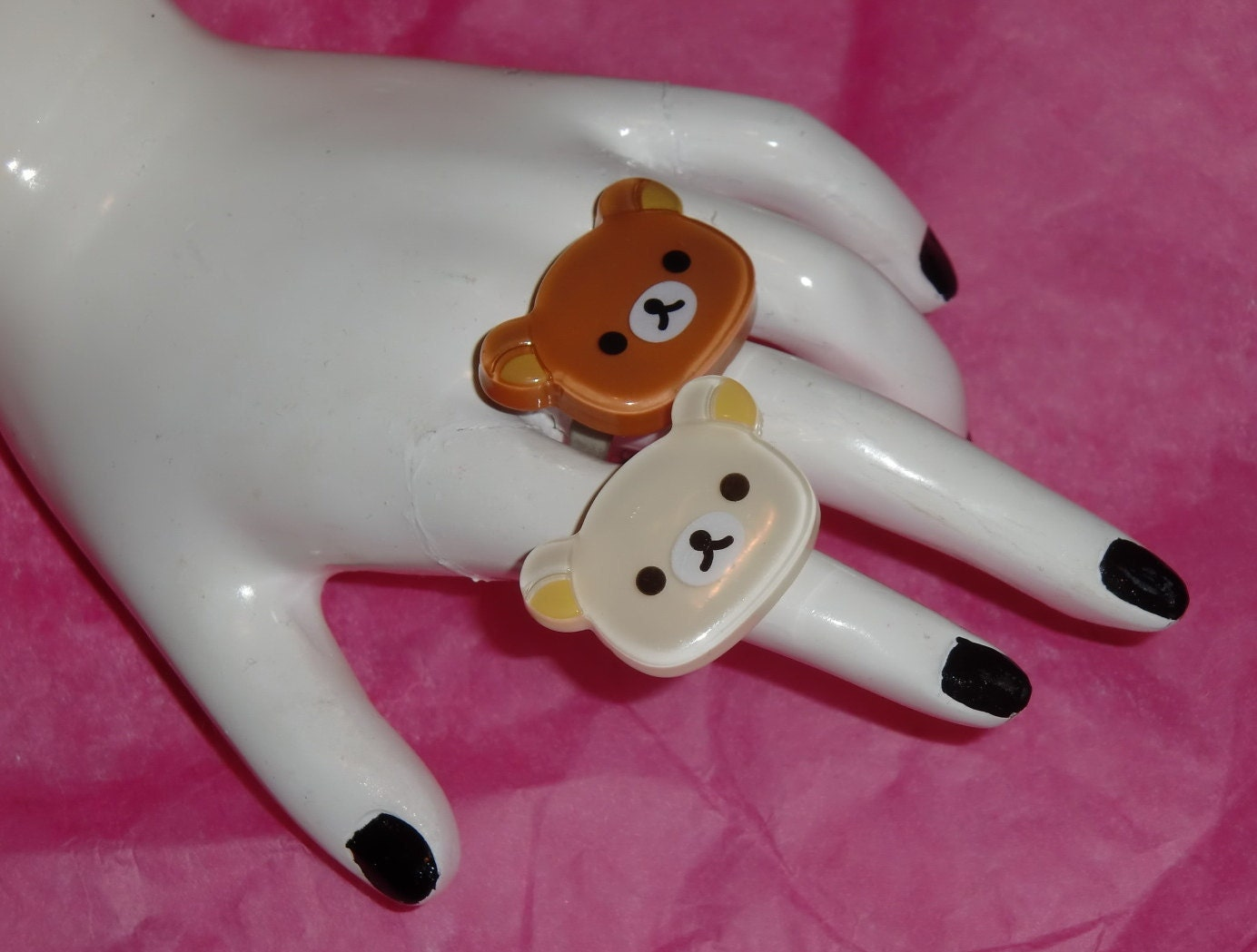 Adorable Relax Bear Style Rings. Choose One.