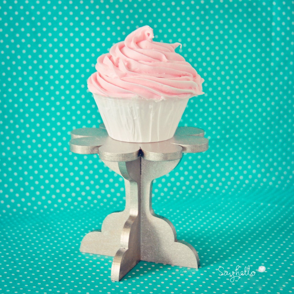 DIY Cupcake stand kit. Set of 2. Paint your own color(s)