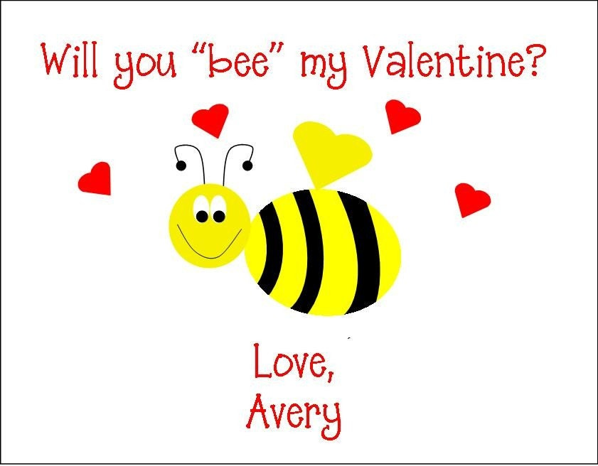 Bee Mine Valentine Party Crafthubs – Bee Valentine Cards