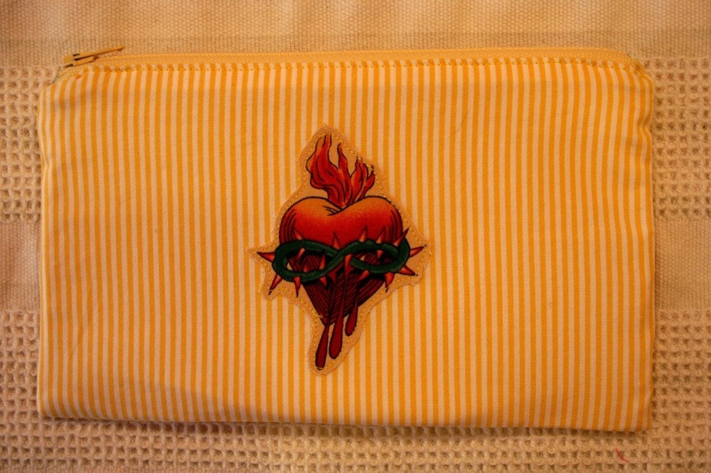 Bleeding Heart Tattoo Pouch- CLEARANCE. From hotbutter