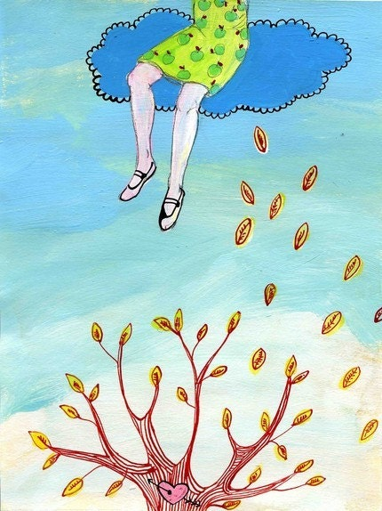 Art print ' I'll be in the clouds, said the girl'