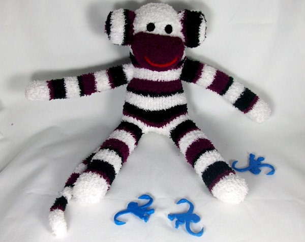 Large sock monkey  Ready to ship