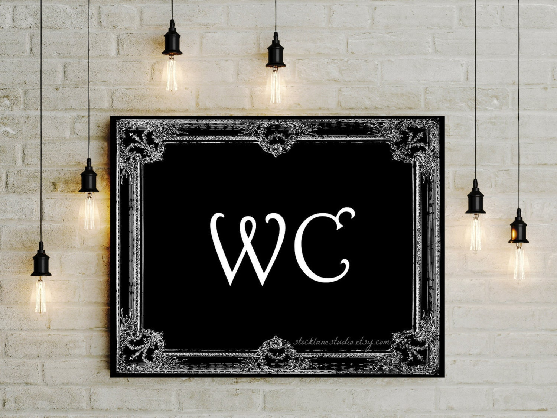 Powder room signs for bathroom