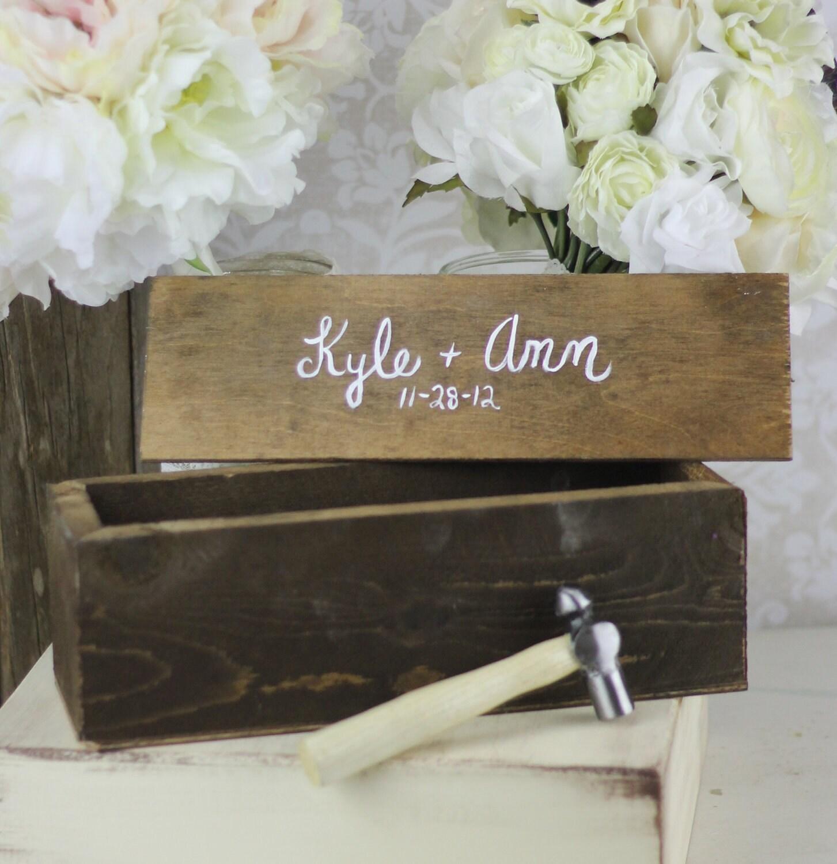 ... Wine Box Custom Bridal Shower Wedding Gift time capsule keepsake box