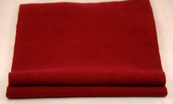 FELTED WOOL PIECES Crimson wf458 - FabulousFabricFinds