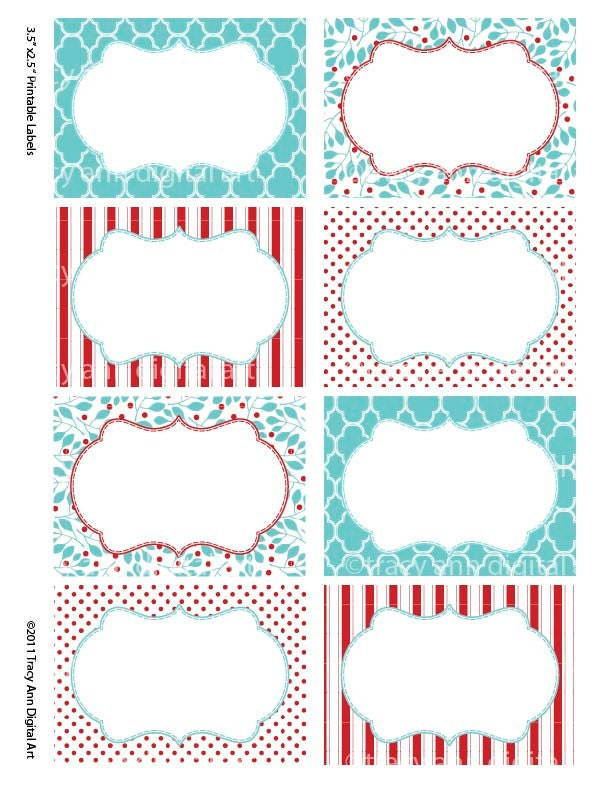 Red and blue print your own labels cards for by for How to print your own shipping labels