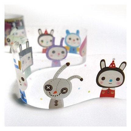 Transparent Doll Illust Deco Tape