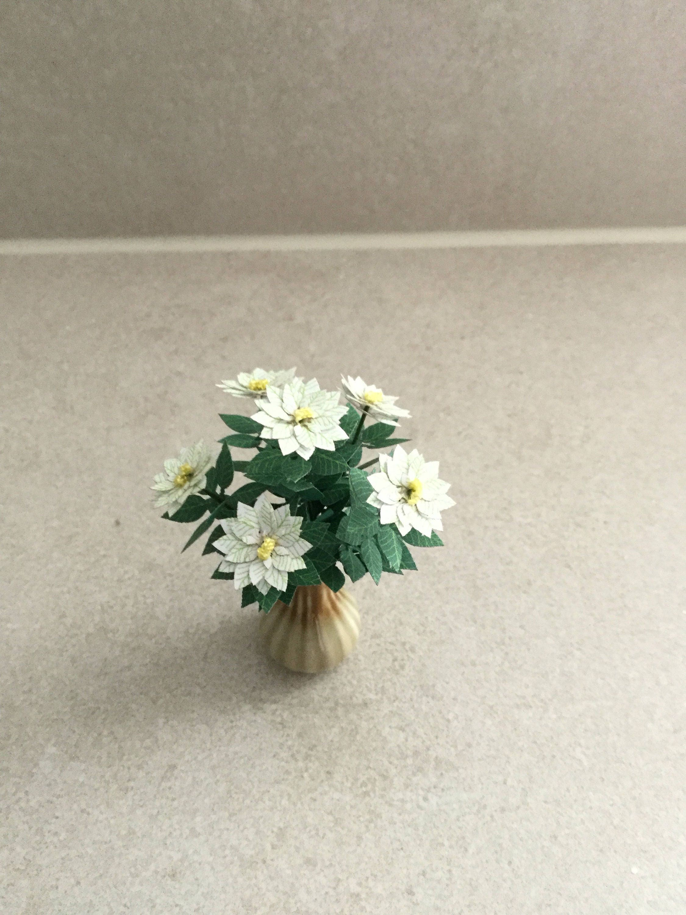 Dolls House Flowers 112th Pot Plant Dolls House Miniature Flowers 112th Scale