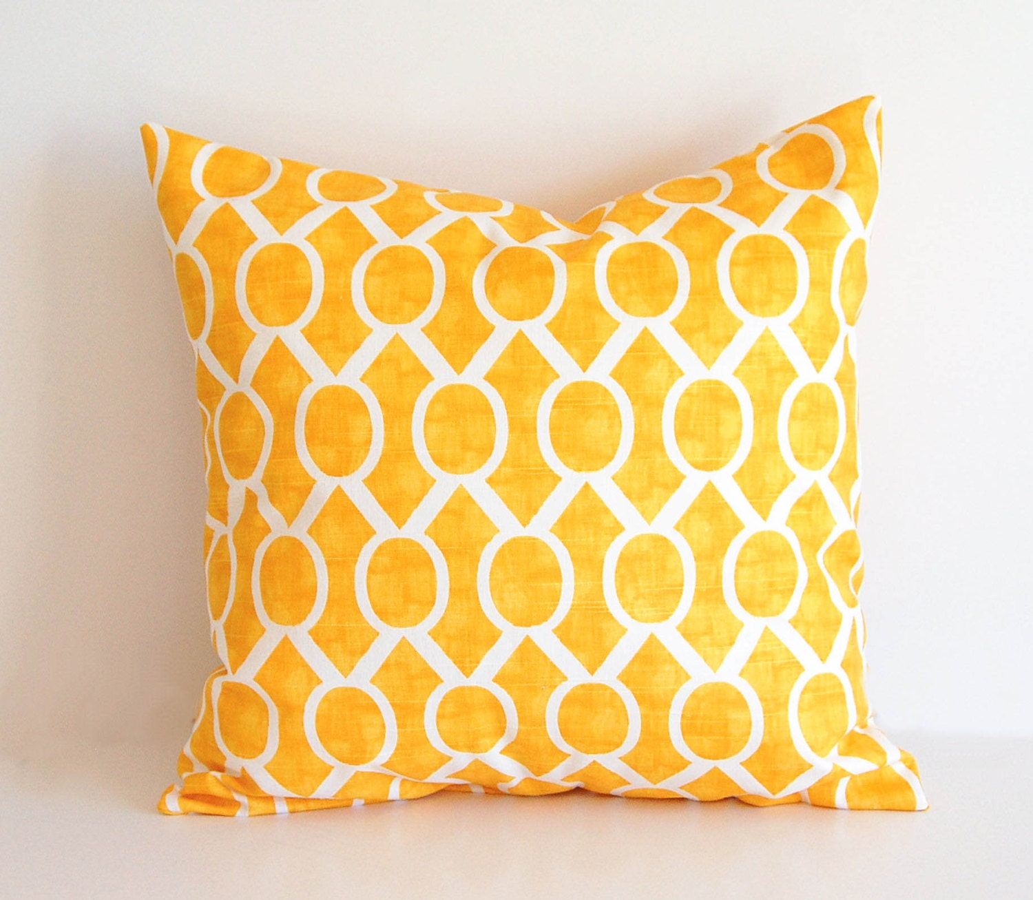 Yellow throw pillow cover One 18 x 18 cushion by ThePillowPeople