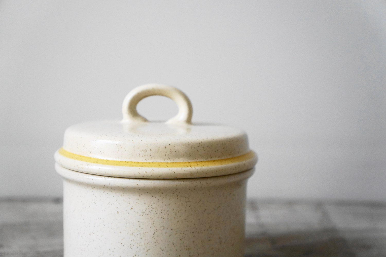 Vintage Stoneware Sugar Bowl - RavenAndFawn