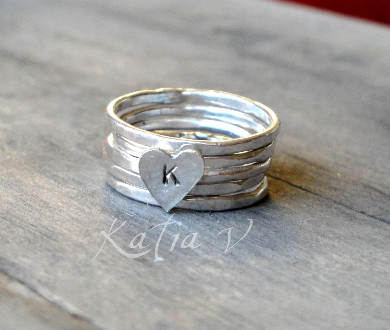 personalized ring handmade sterling silver by katerinaki1977