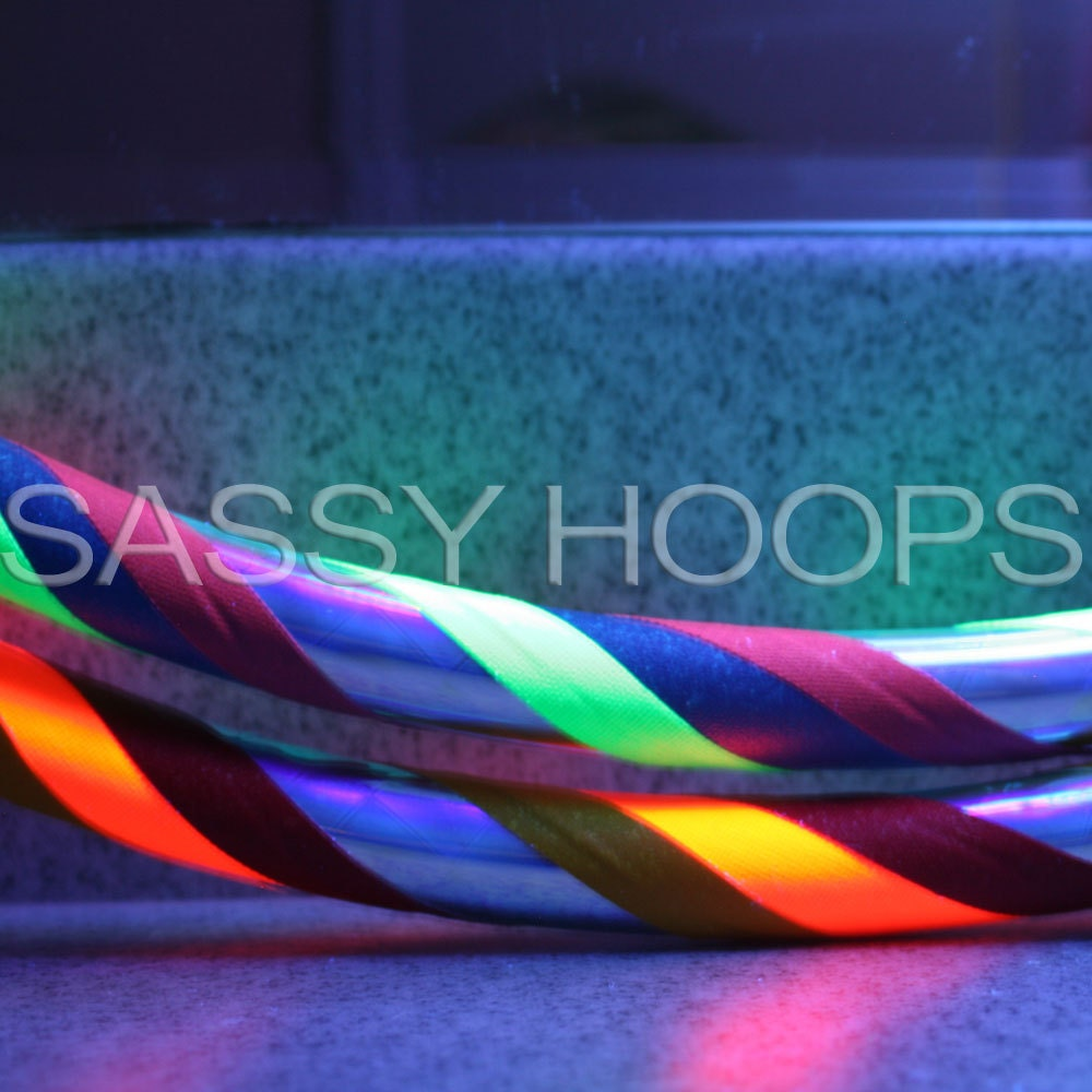 Mini Hula Hoops Poi-Style Arm Hoops -  Rainbow Brite