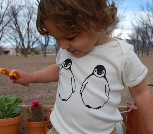 March of the Penguins Organic Onesie