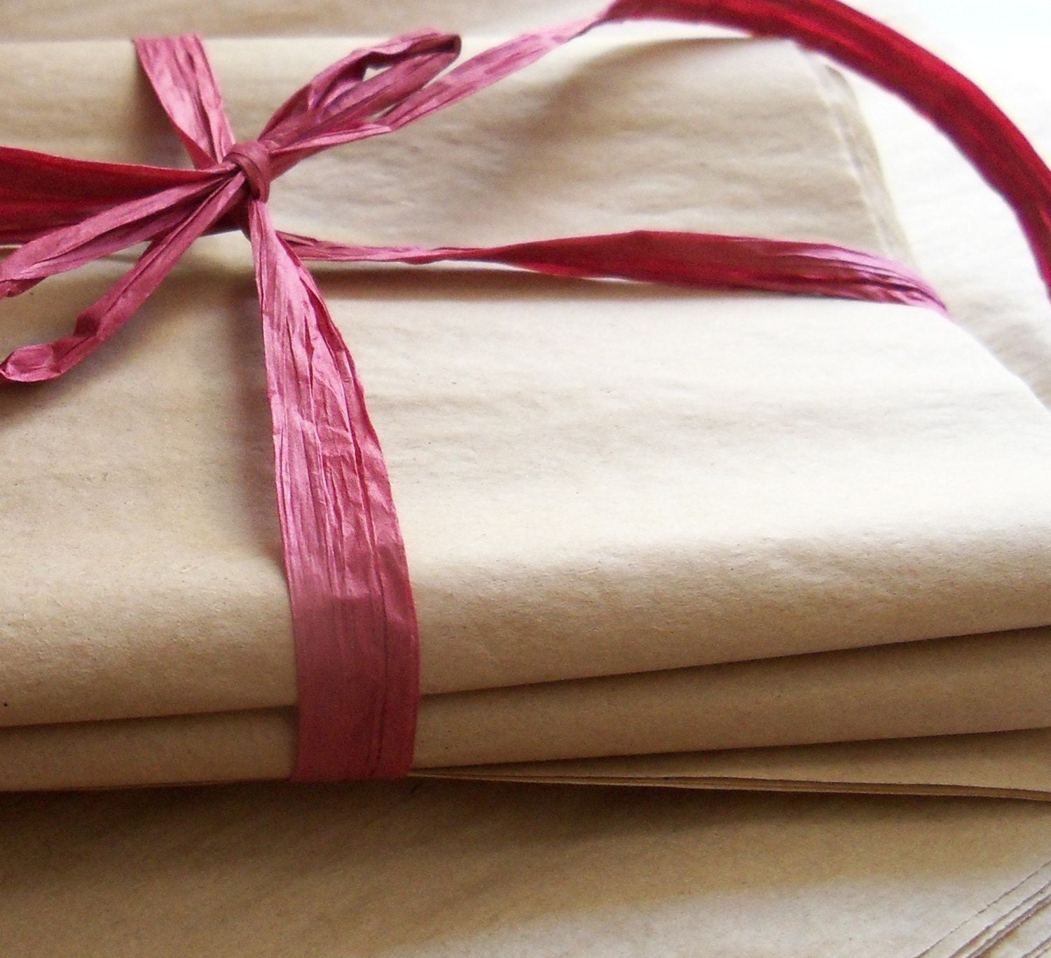 All natural recycled Kraft tissue paper -- 50 sheets of 15x20