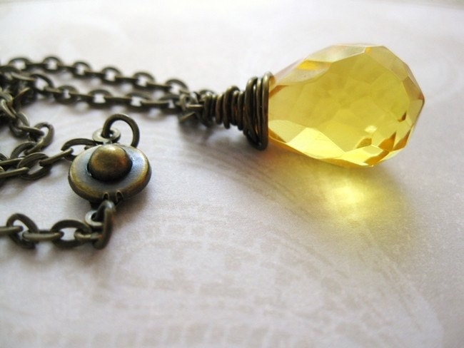 LEMON DROP QUARTZ NECKLACE