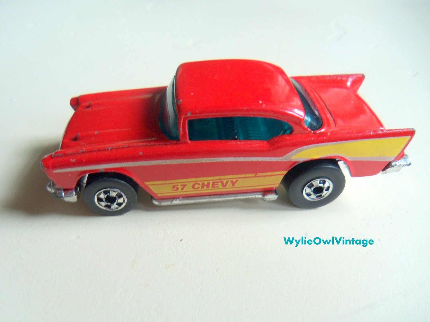 Vintage Hot Wheels 57 Chevy Made in Hong Kong 1976 - WylieOwlVintage