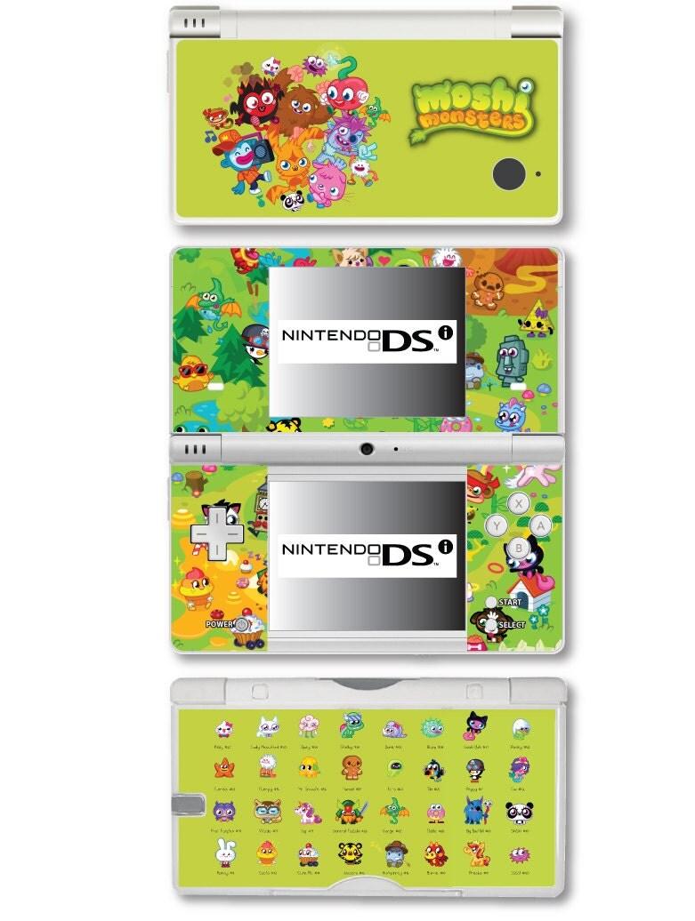 Moshi Monsters Vinyl Skin Sticker for Nintendo DS liteDSiDSi xl3DS3DS xlNew 3DS cstickNew 3DS xl cstick2DS