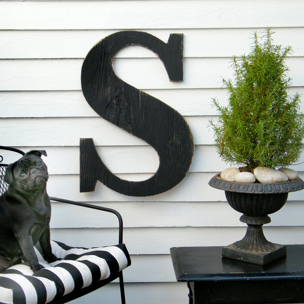24 extra large letter large wood letters shabby by With large outdoor wooden letters