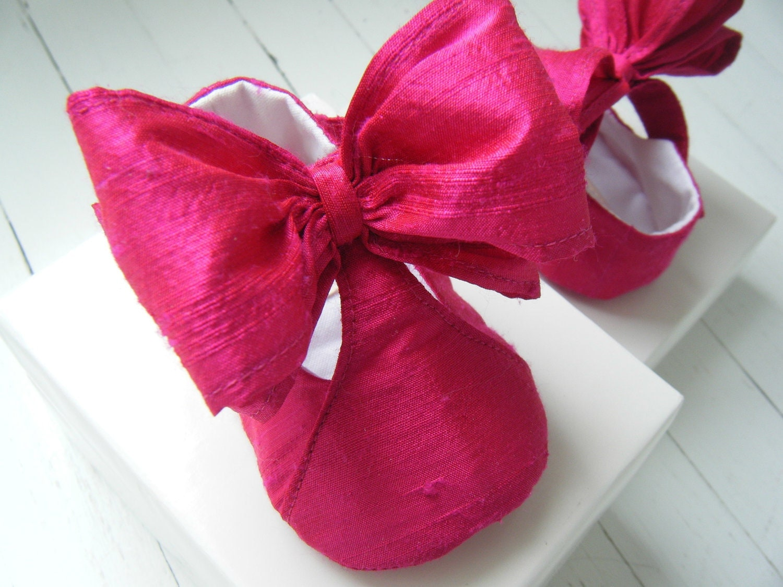 T-Strap «Виктория» Яркий шелковый розовый Dupioni обуви для вашего ребенка девушка