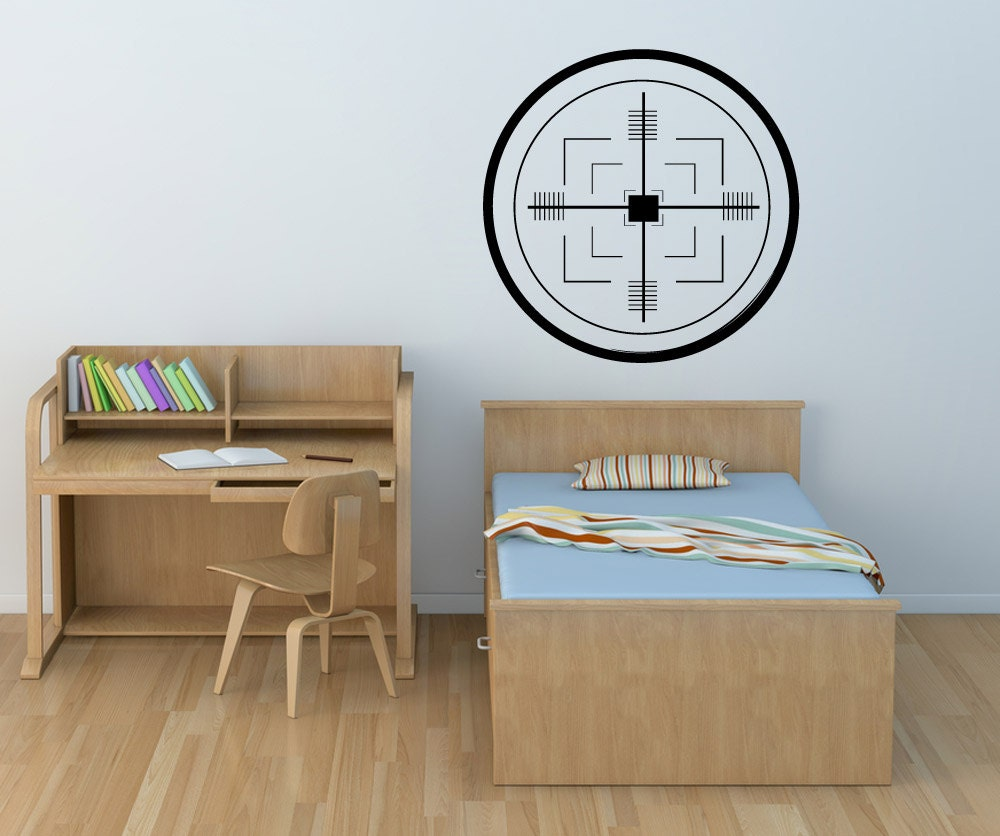 items similar to vinyl wall decal sticker missile target 1109m on etsy