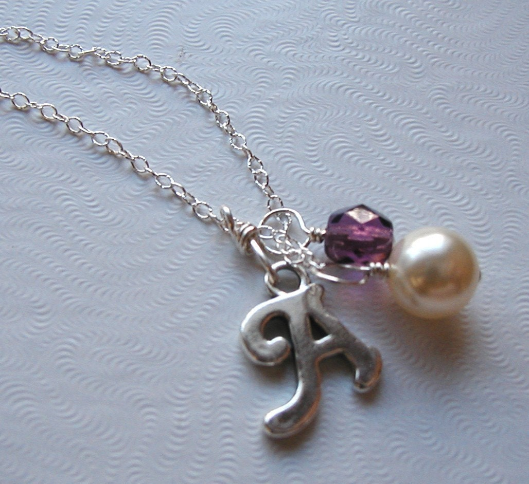 Initial Charm Necklace with Removable Charms