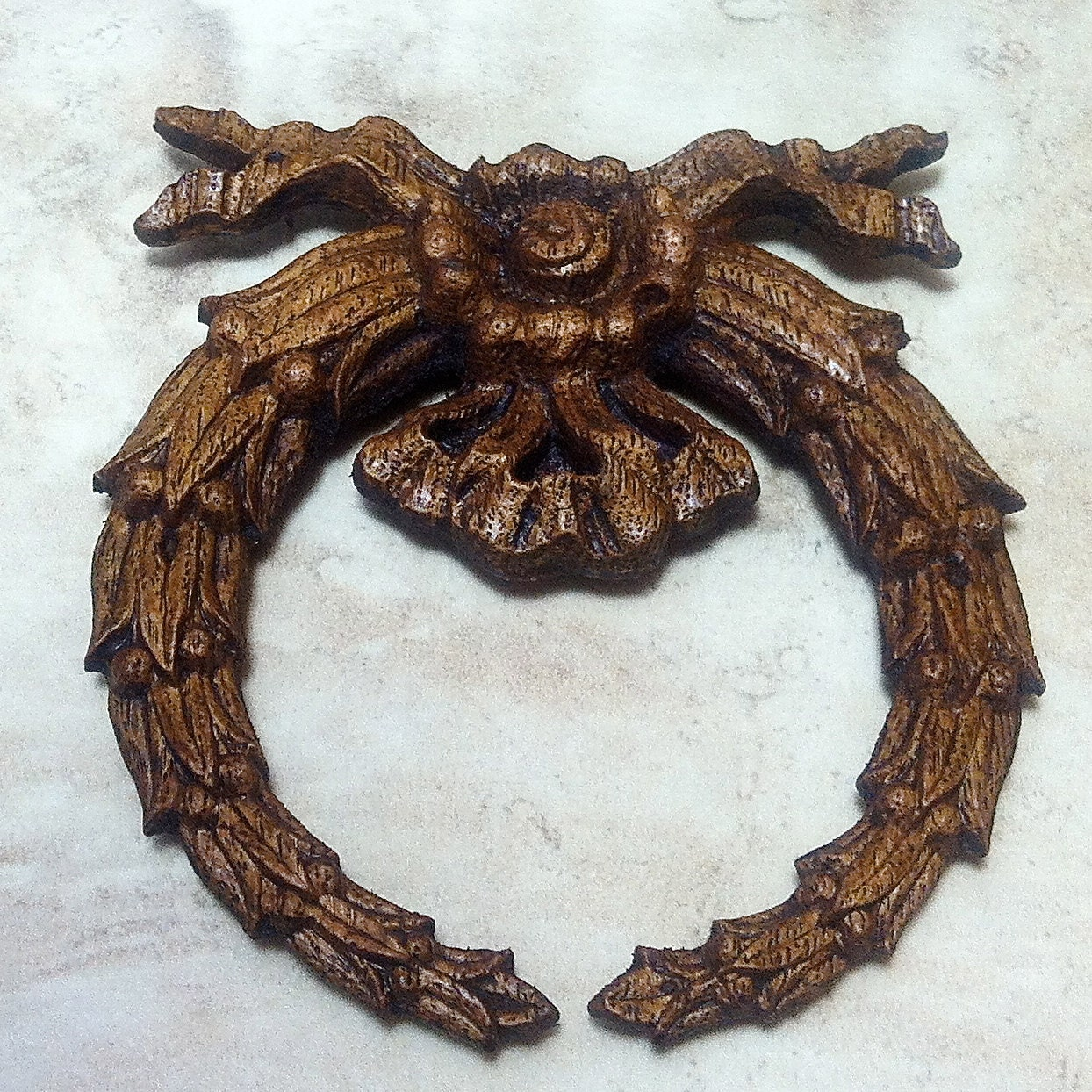 Salvage Wood Ribbon Wreath Furniture By Jujubefunnyfinds