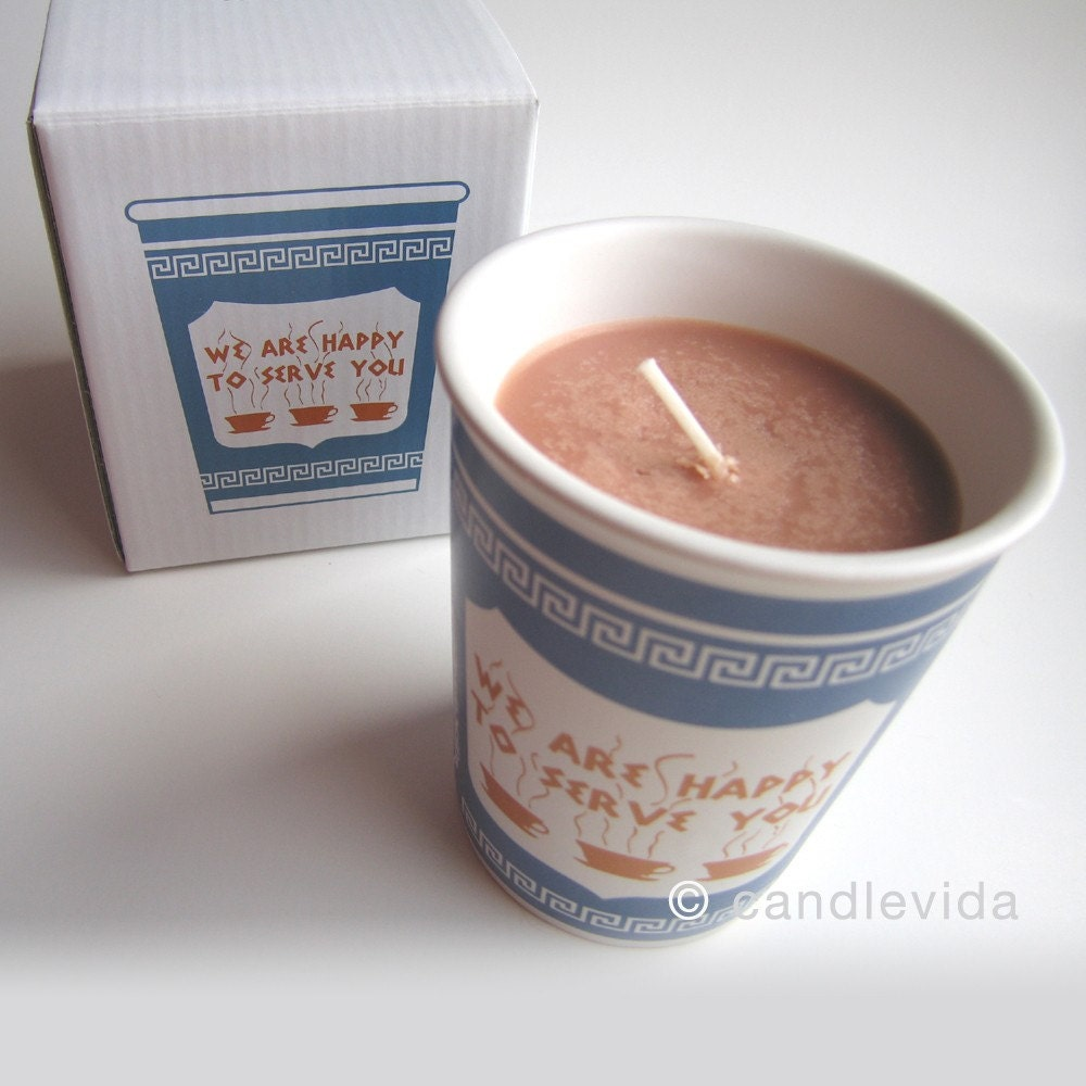 New York Greek Coffee Cup Candle - Fresh Brewed
