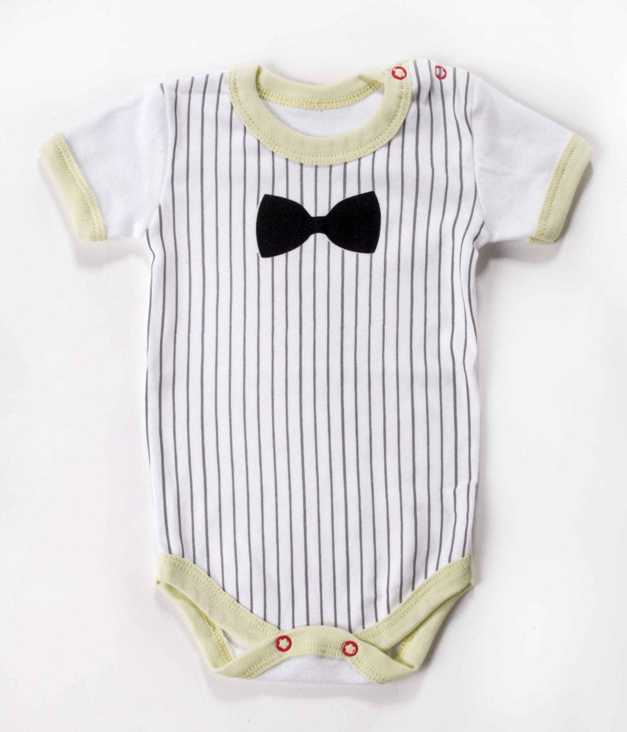 BLACK BOW TIE baby bodysuit 6-12M