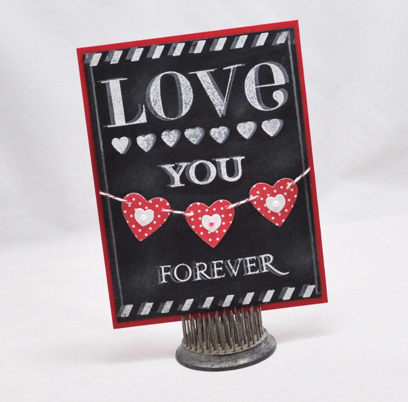 Chalkboard Love Card - CardsandMoorebyTerri