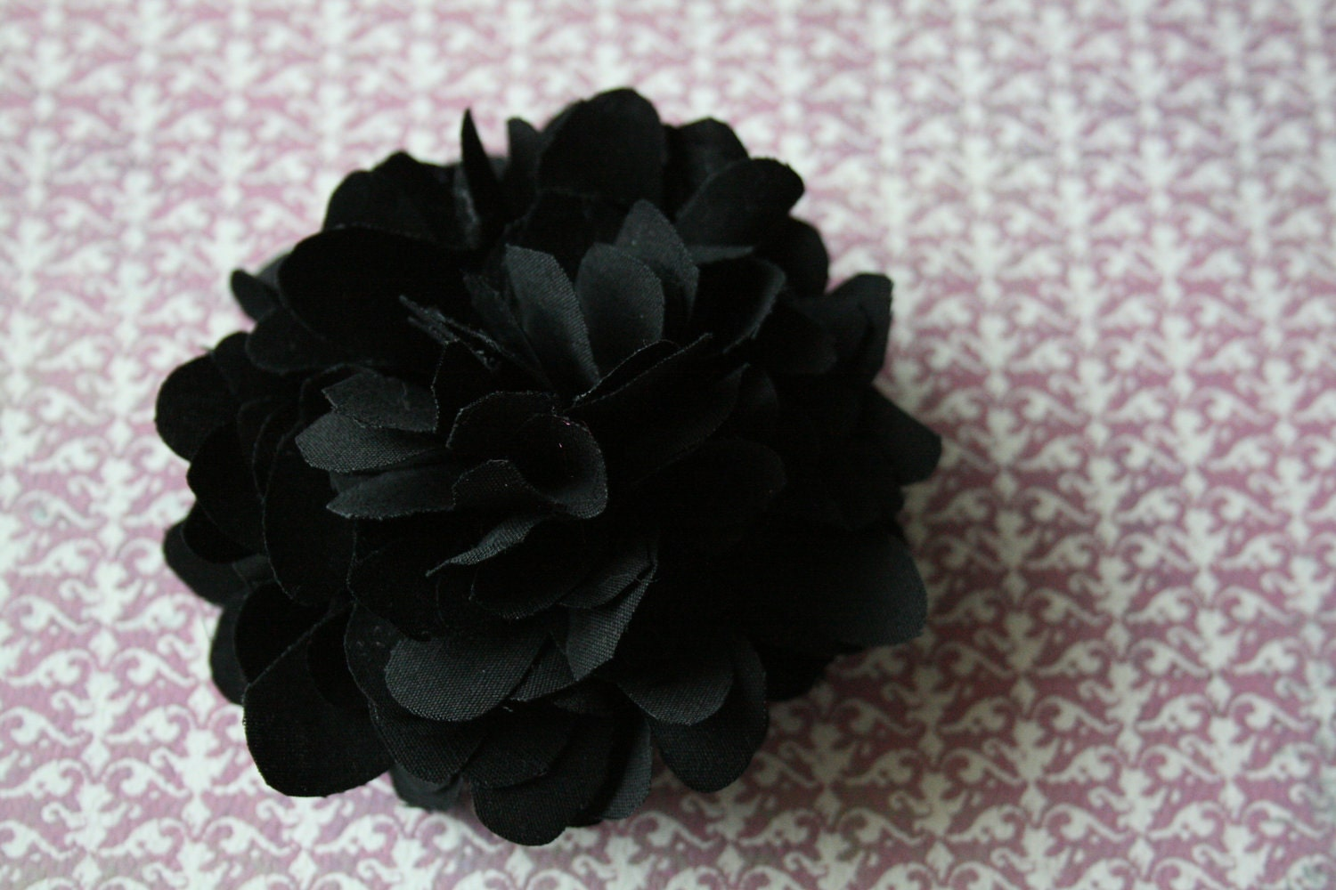 Flower Pin, You Choose Color, handy to clip on any clothing item