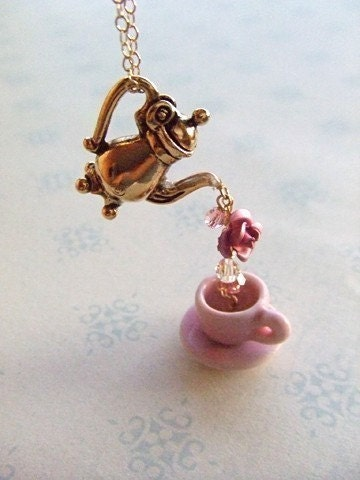 ROSE BUD TEA Part 2 necklace