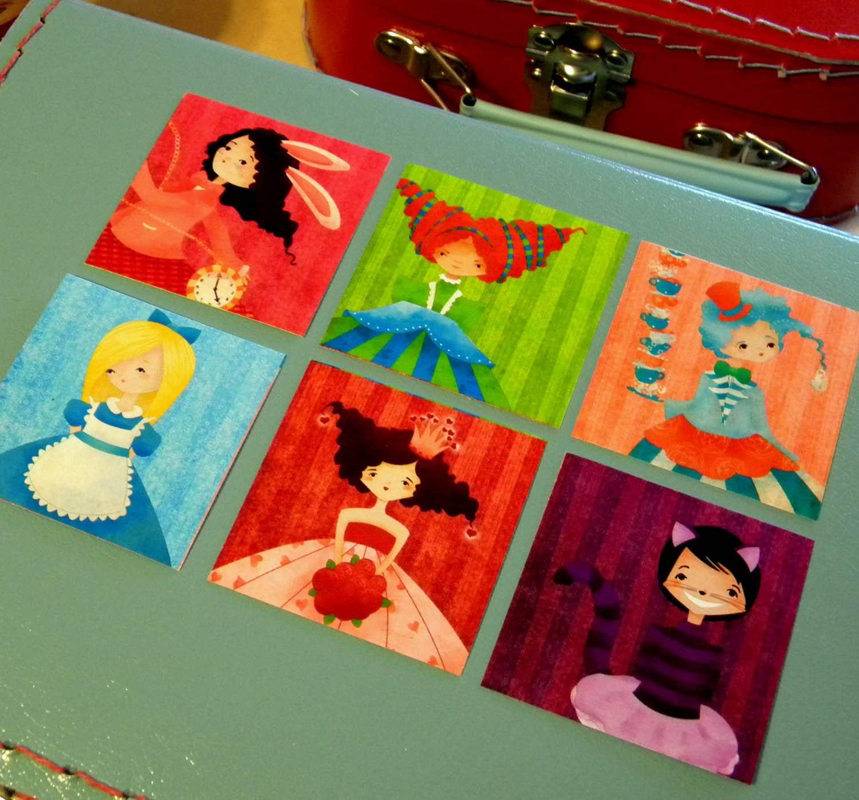 Alice in Wonderland Stickers Set of 24
