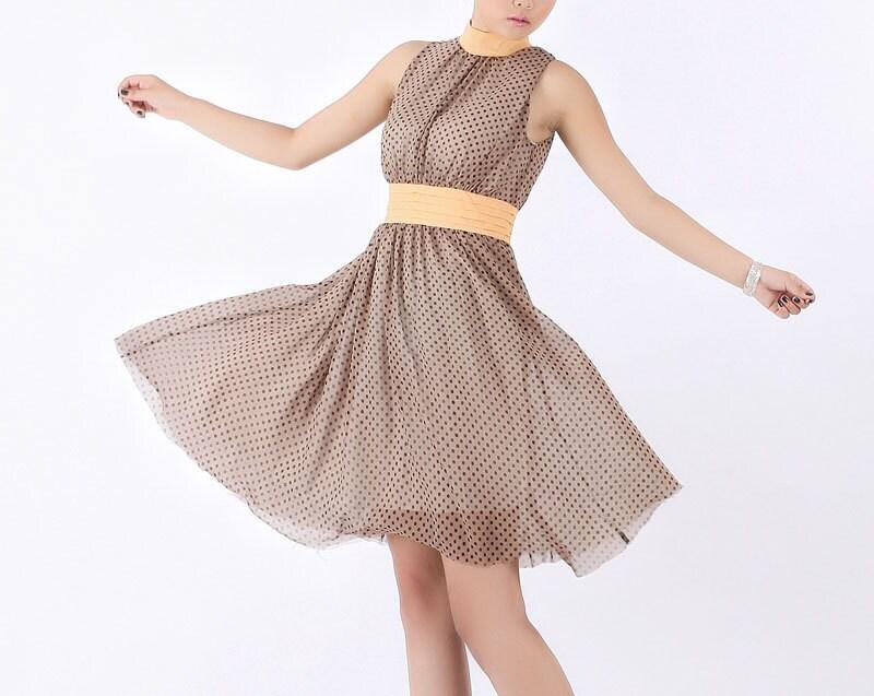 نوعی پارچه ابریشمی زانو در تابستان لباس طول (0224)