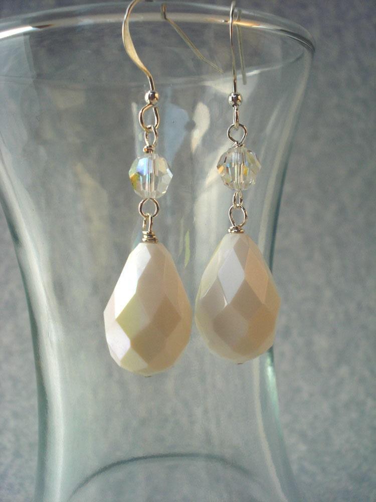 Perfect Pair Pear Crystal  Earrings