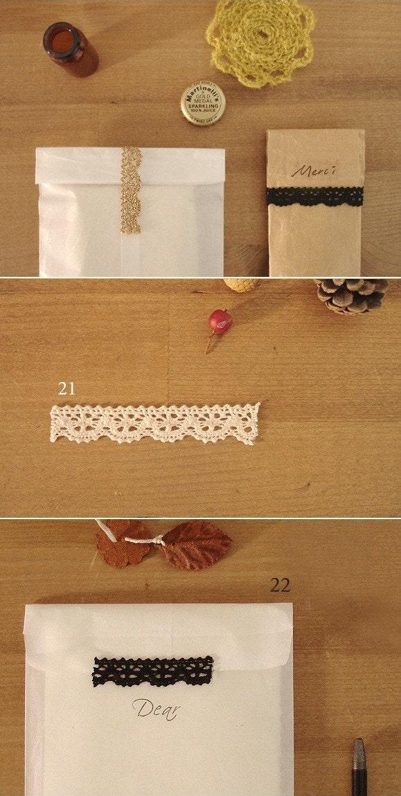 Cotton Lace Roll Sticker Tape 21-22
