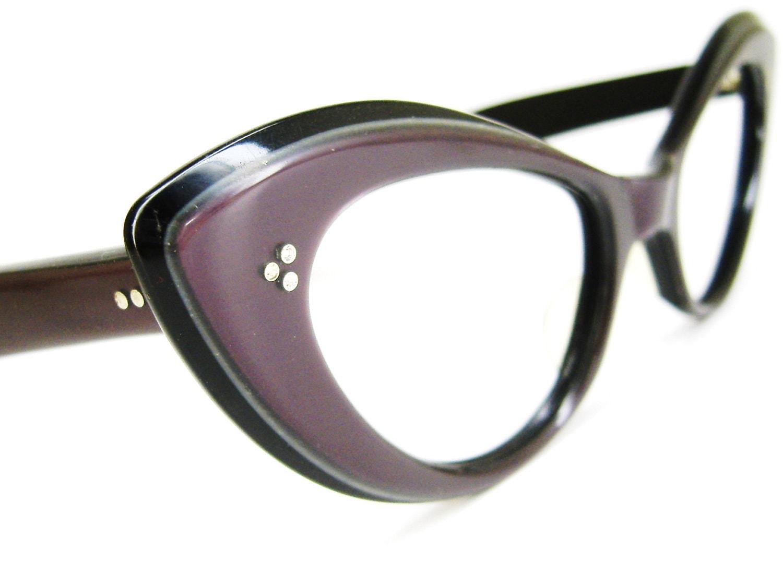 Eyeglasses Frames Purple : Vintage Purple Eyeglasses or Sunglasses frame by ...