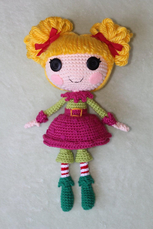 Схеме: Lalaloopsy Холли Sleighbells Вязаные куклы Amigurumi