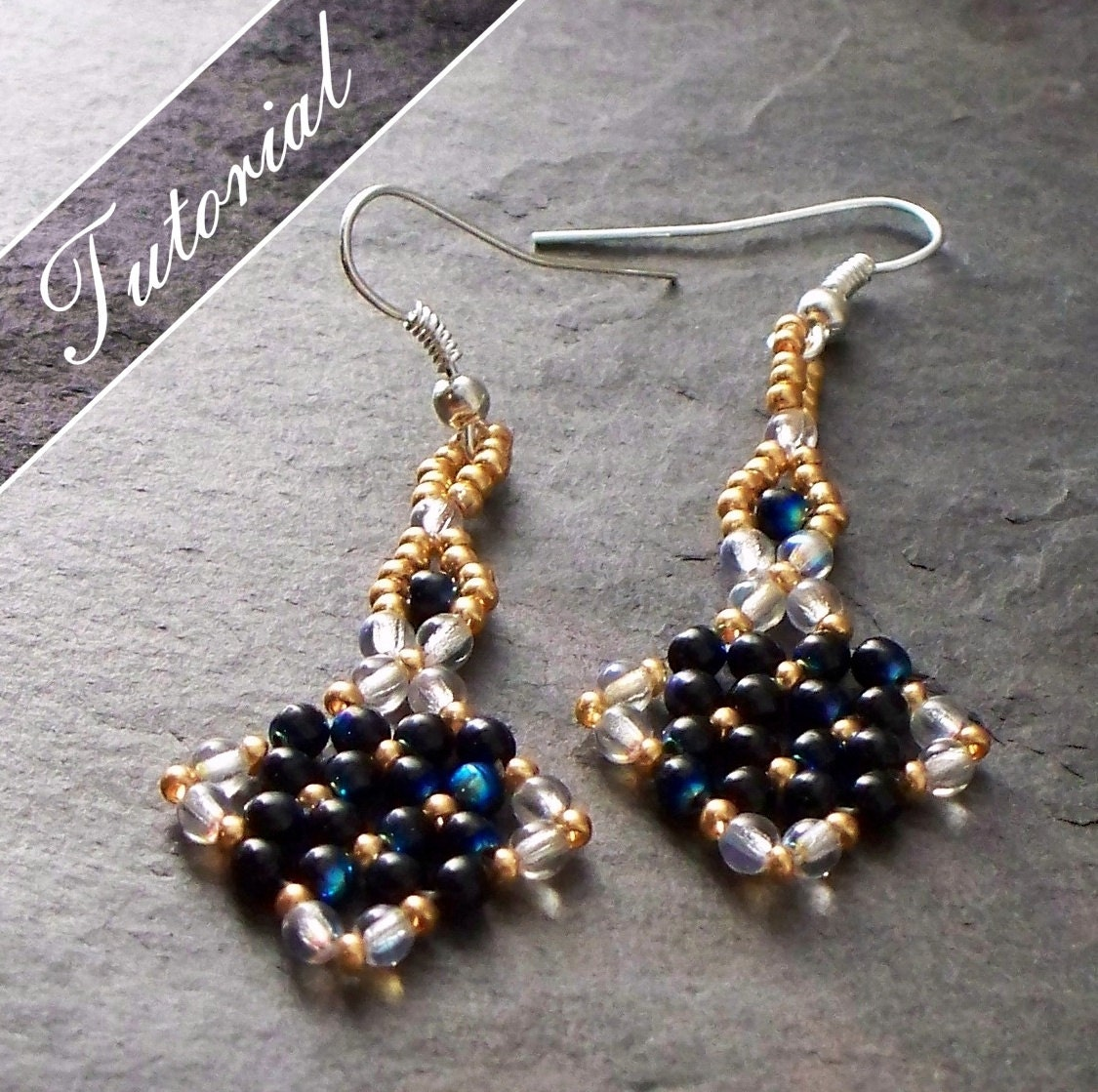 Onestep Earrings: Beading Tutorial And Pattern Earrings RAW By