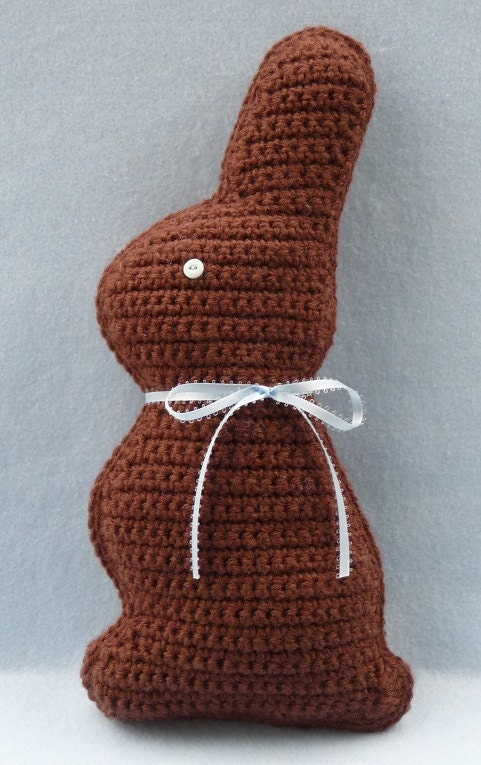 Chocolate Easter Bunny Crochet PATTERN INSTANT by ...