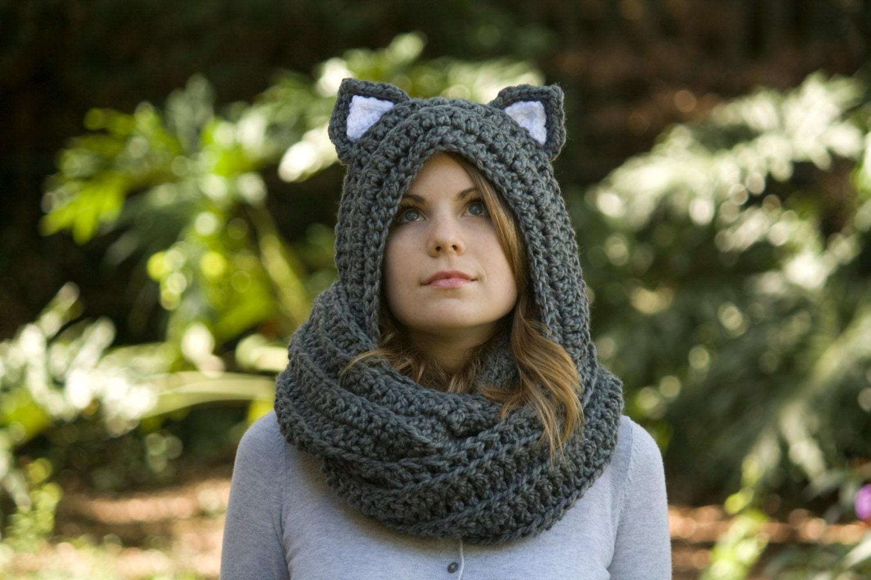 Cat Ear Crochet Cowl Pattern