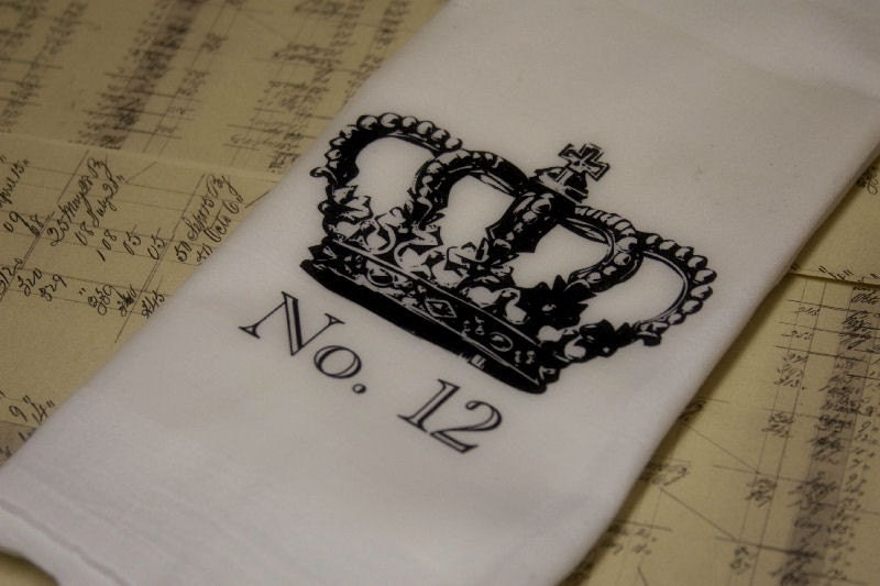 French Crown No. 12 Tea Towel