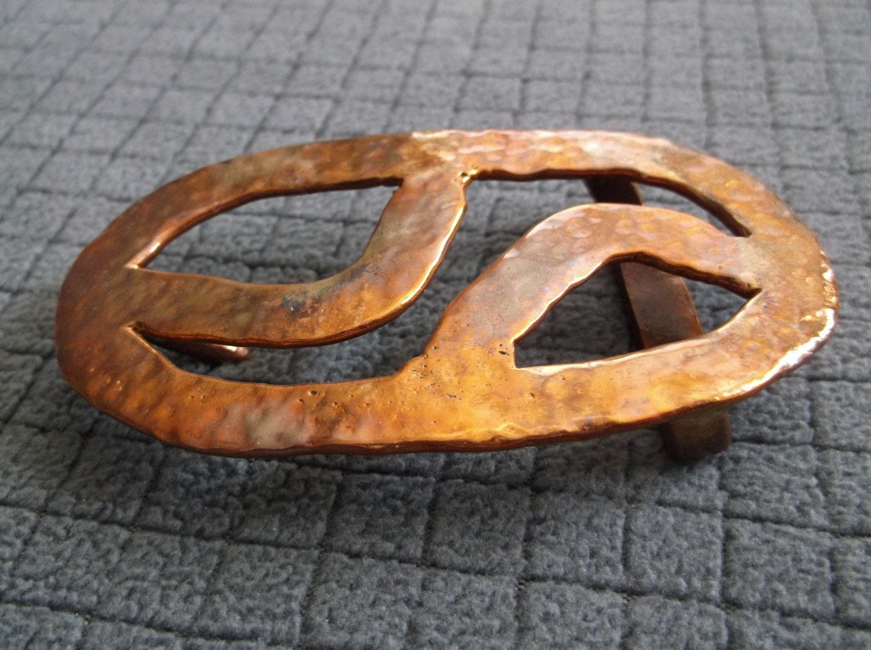 Western Plain Rectangular Hammered Vintage Belt Buckle