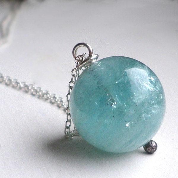 Up in the Clouds Huge Natural Aquamarine by ovgilliesdesigns from etsy.com