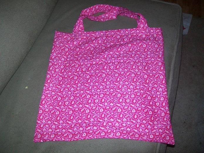 Fabric Bag in Bright Pink Print