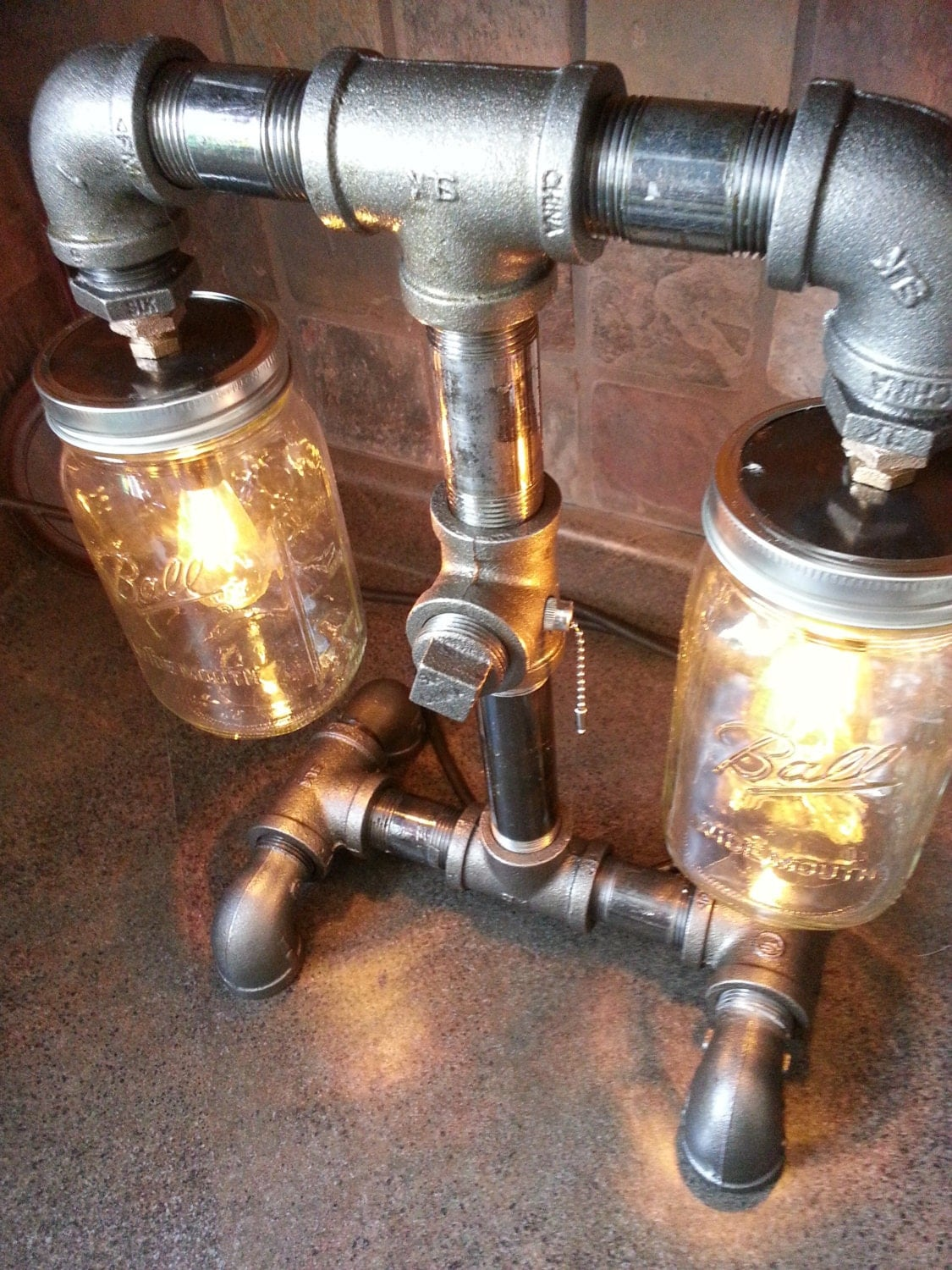 Items Similar To Steampunk Style Black Iron Pipe Lamp