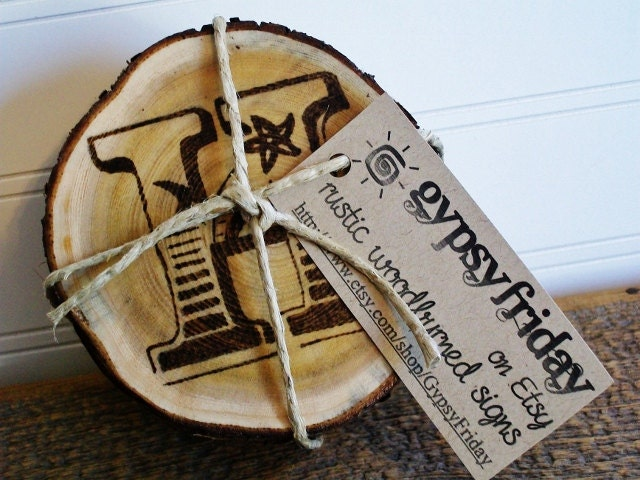 Unusual Wooden Wedding Gifts : Unique Wedding Gifts / Personalized Coasters / Wood by GypsyFriday