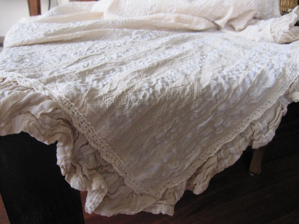 Neutral organic cotton top sheet - summer spread - Crib bedding  throw - Buldan fabric - nurdanceyiz